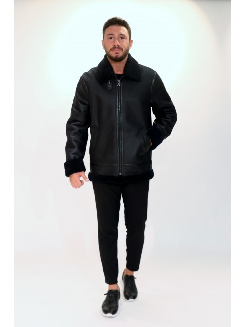 Emelda Black Shearling Jacket