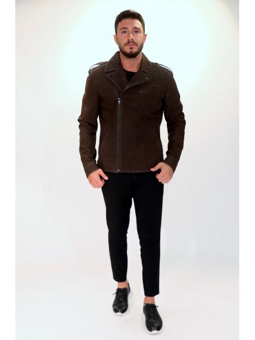 Emelda Brown Suede Jacket
