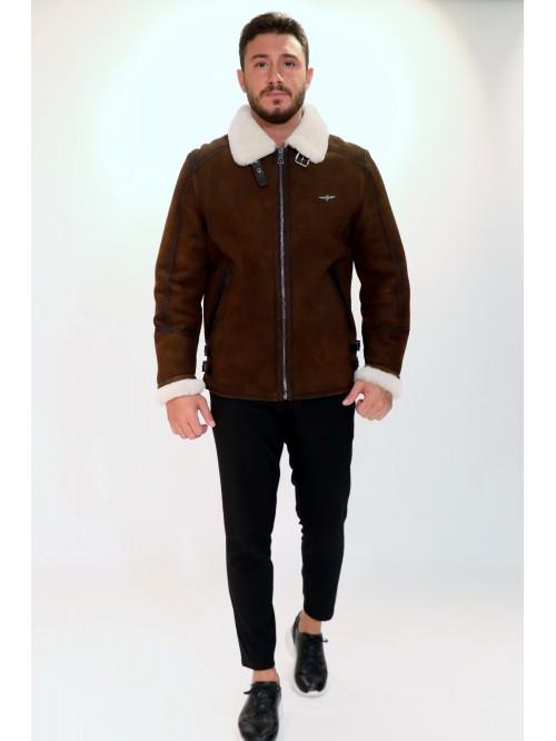 Emelda Brown Shearling Jacket