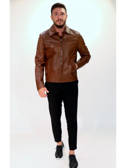 Emelda Brown Leather Jacket