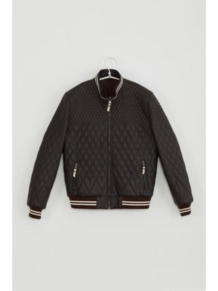 Emelda Black Kids Leather Jacket