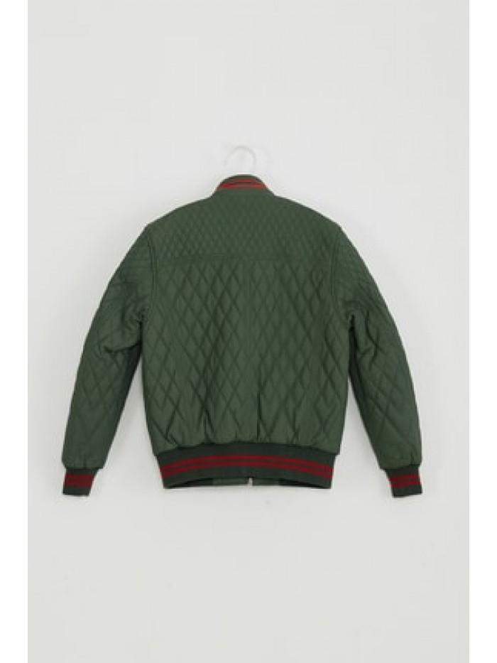 Emelda Green Kids Leather Jacket