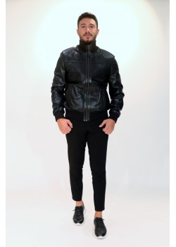 Emelda Black Leather Jacket