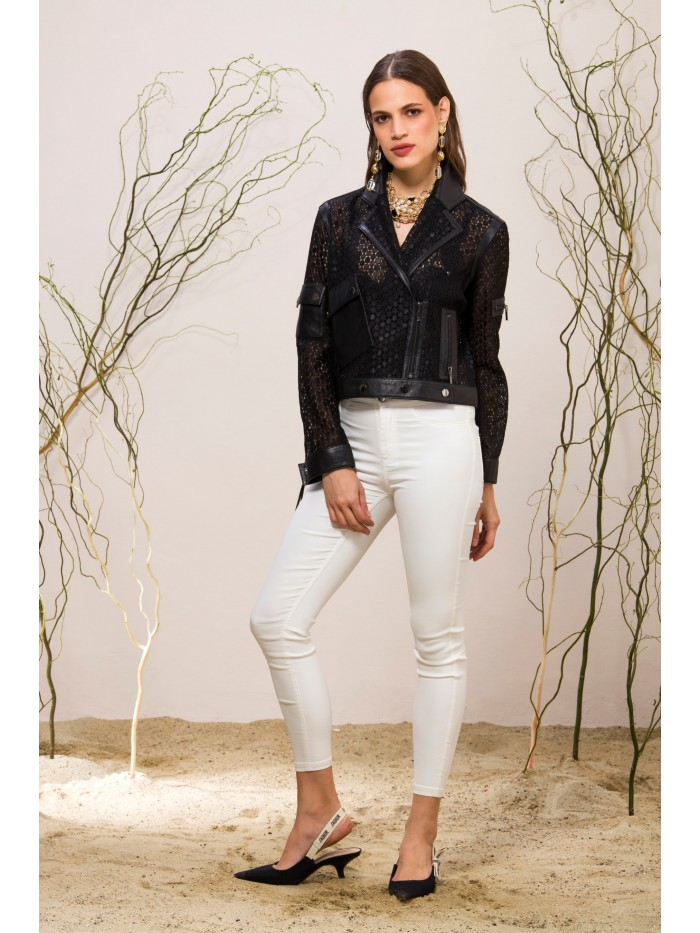 Emelda Tasseled Leather Jacket