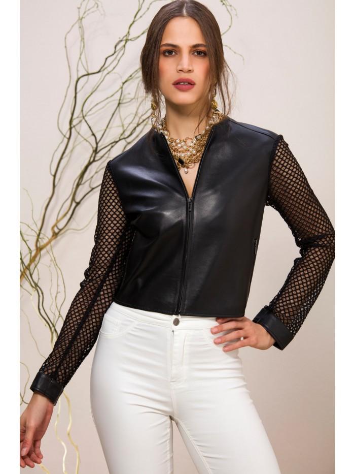 Emelda Black Leather Jacket