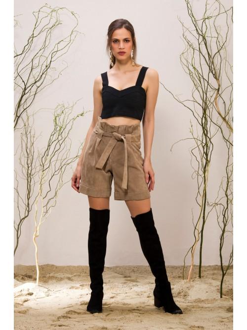 Emelda Leather Shorts